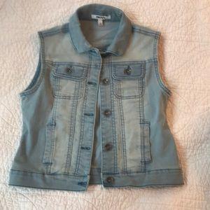 Girls denim vest
